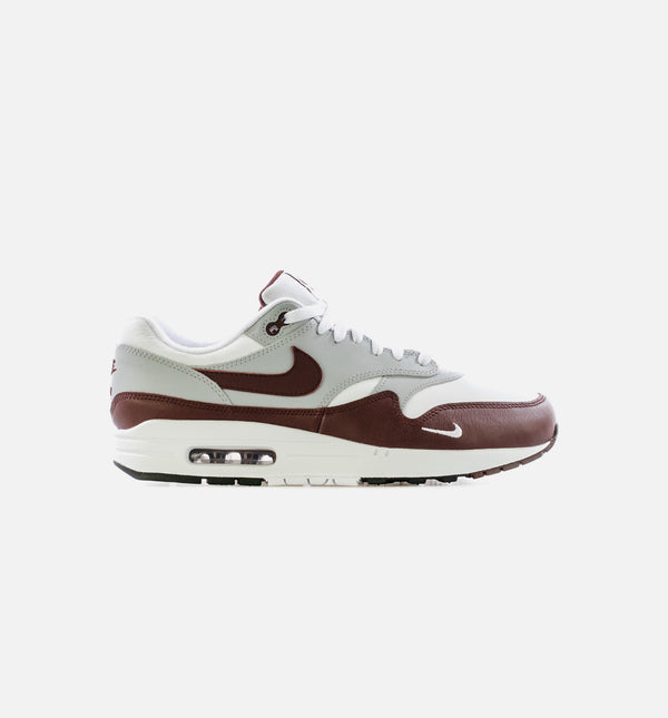 AIR MAX 1 WOLF GREY MENS LIFESTYLE SHOE - WHITE/BROW