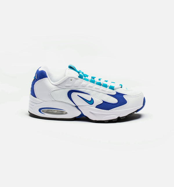 AIR MAX TRIAX 96 WOMENS LIFESTYLE SHOE - WHITE/VARSITY ROYAL/BLACK/SPIRIT TEAL