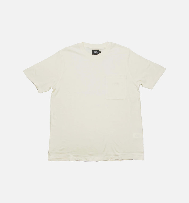 STUSSY ODYED BOXY SS MENS T-SHHIRT - NATURAL