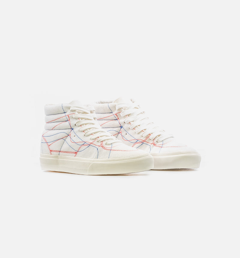 VANS VAULT X TAKA HAYASHI DIY SK8 HI MENS SKATE SHOE - BONE/MULTI COLOR