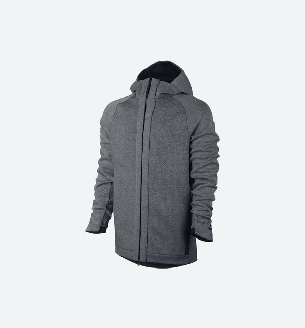 NIKE TECH FLEECE ZIP HOODIE MEN'S - GREY/BLACK
