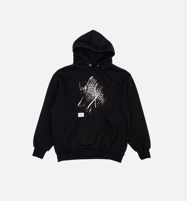 X WTAPS PULLOVER MENS HOODIE - BLACK/WHITE