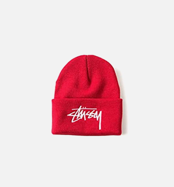 STOCK HO15 CUFF BEANIE - RED