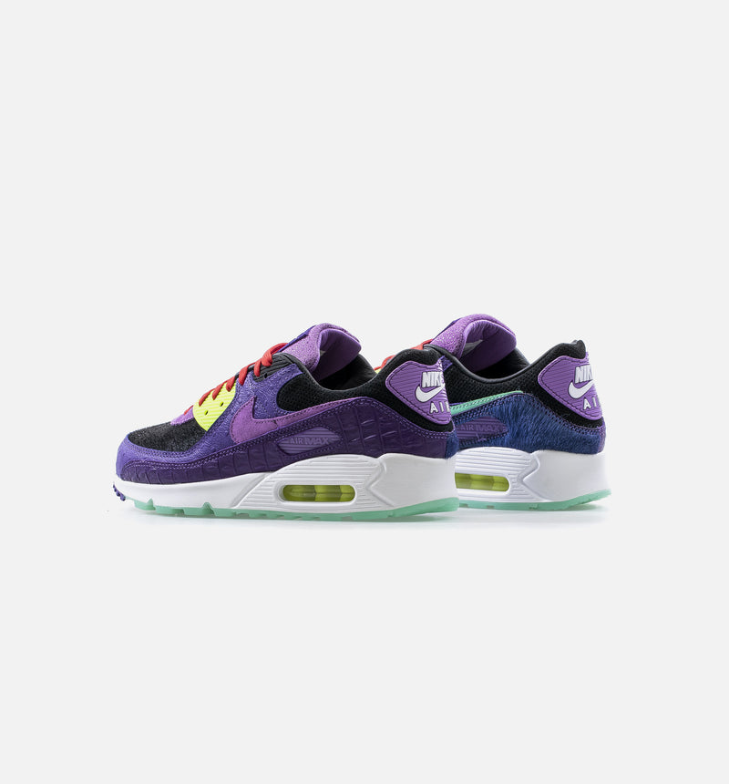 AIR MAX 90 QS MASHUP MENS RUNNING SHOE - PURPLE/BLACK/VOLT