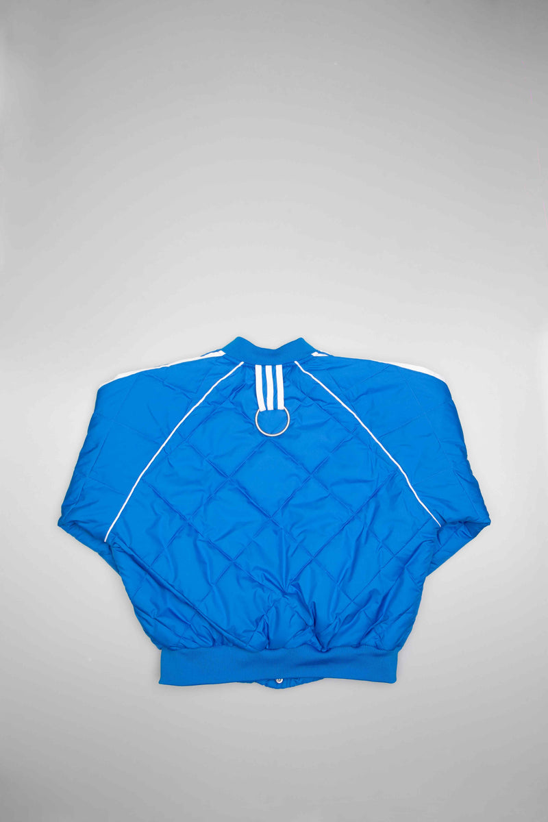 OLIVIA OBLANC X ADIDAS X KENDALL JENNER QUILTED WOMENS TRACK TOP - BLUE/BLUE
