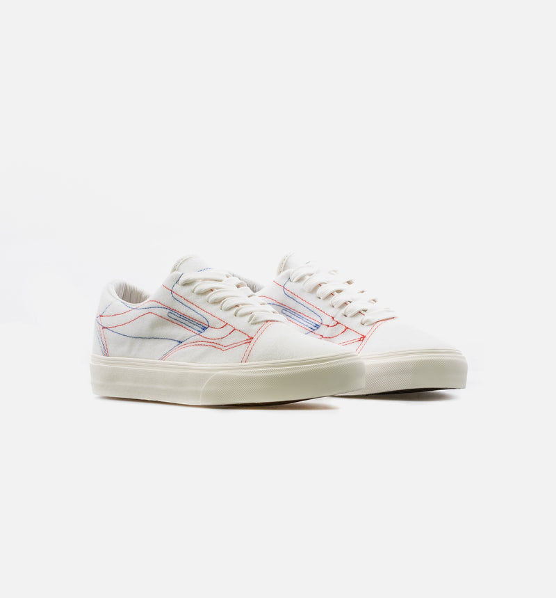 VANS VAULT X TAKA HAYASHI DIY LOW MENS SKATE SHOE - BONE/MULTI COLOR