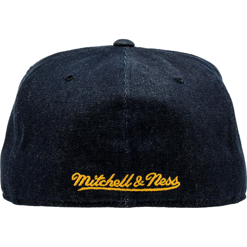 MITCHELL & NESS LOS ANGELES LAKERS MEN'S FITTED HAT - DENIM