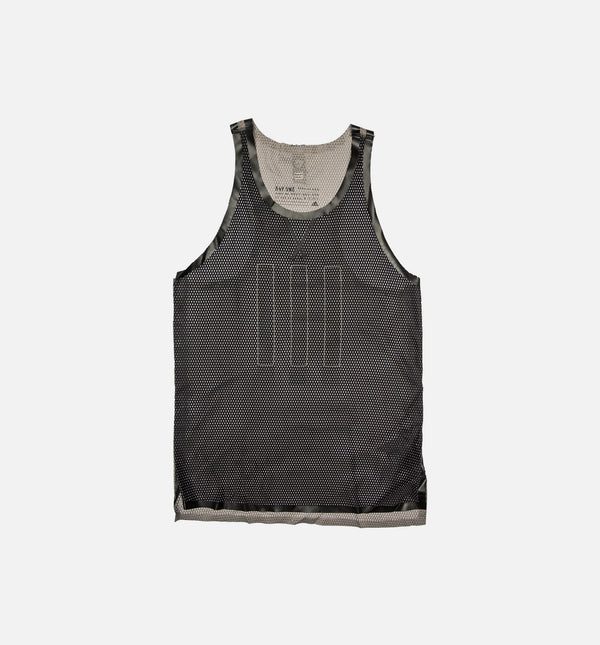 ADIDAS CONSORTIUM X DAY ONE MESH SINGLET TANK TOP MEN'S - BLACK/LIGHT BROWN