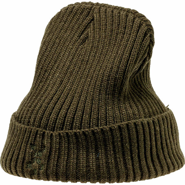 NICE KICKS PABLO CABLE BEANIE - OLIVE GREEN