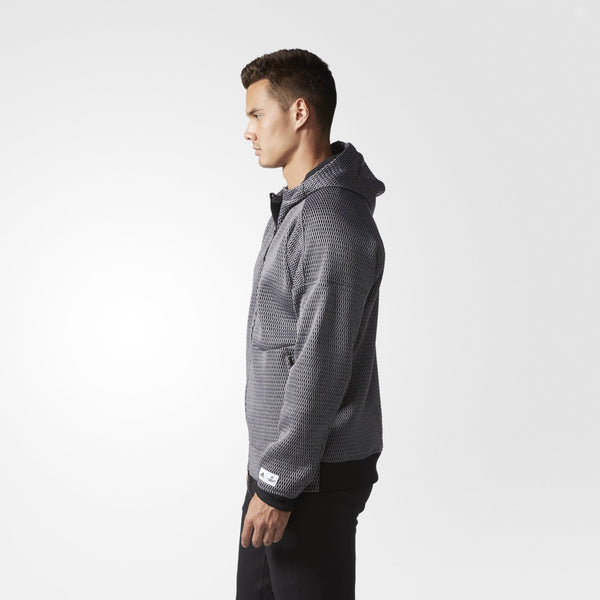 REIGNING CHAMP X ADIDAS SPACER ZNE HOODIE MEN'S - GREY/BLACK