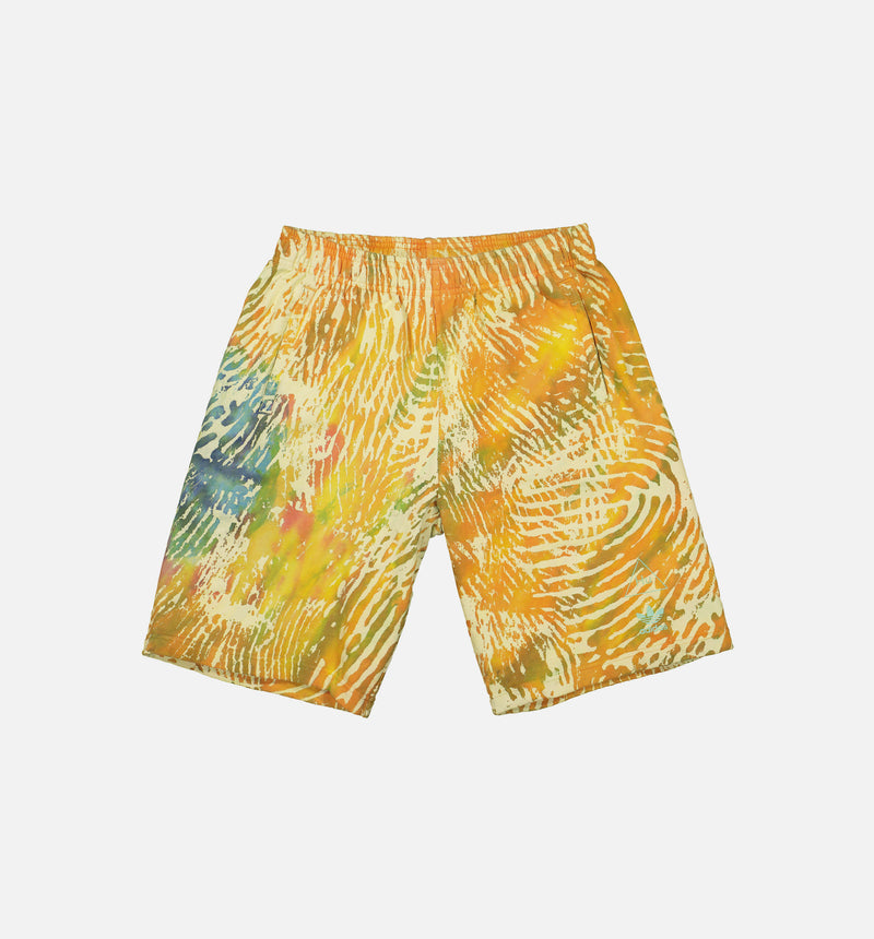 PHARRELL WILLIAMS BASKETBALL MENS BASKETBALL SHORTS - MULTI-COLOR/YELLOW/BLUE