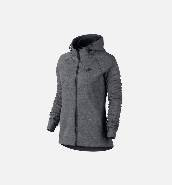 NIKE SPORTSWEAR TECH FLEECE HOODIE WOMEN'S - GREY/BLACK