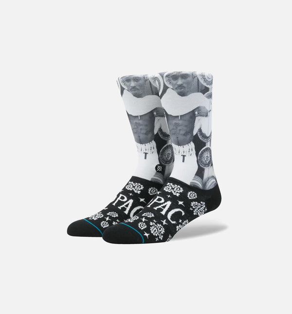 STANCE TUPAC BANDANA SOCKS MEN'S - BLACK/WHITE/GREY