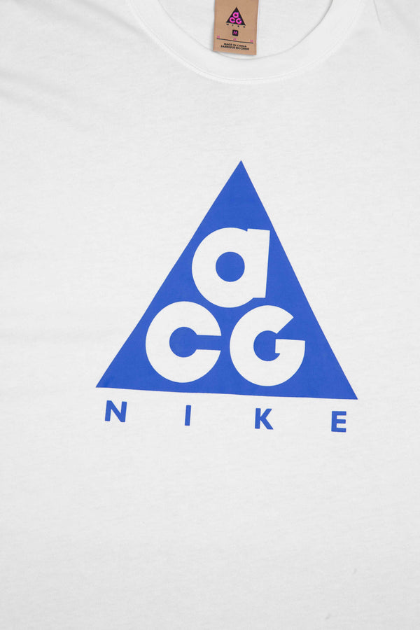 NIKE ACG L/S MENS TEE - WHITE/BLUE