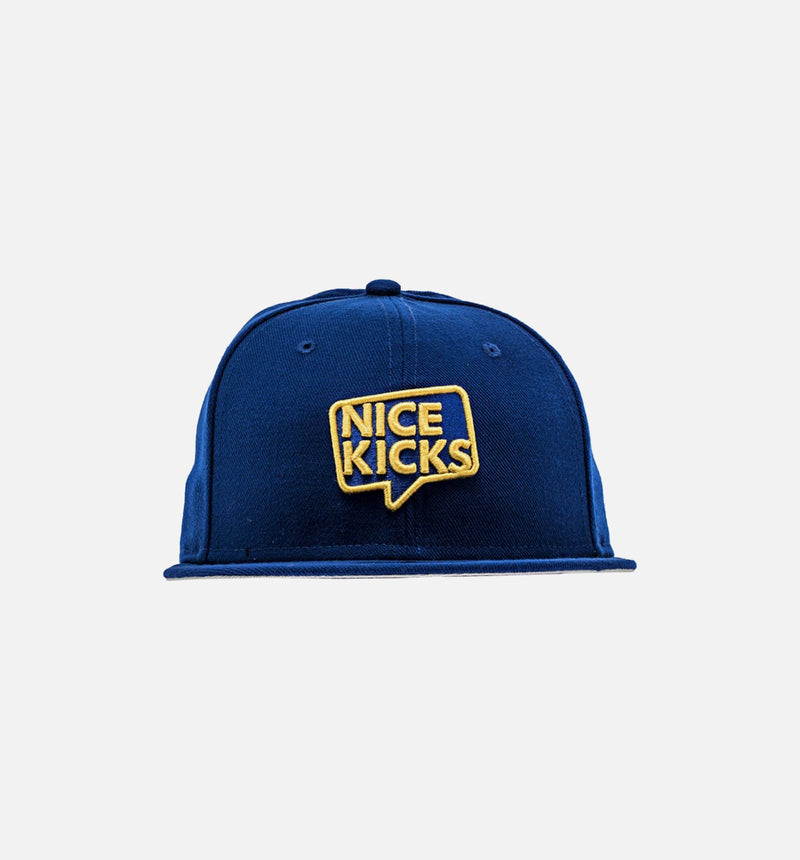 NEW ERA X NICE KICKS 'NICE ANGELES' HAT - ROYAL BLUE/YELLOW