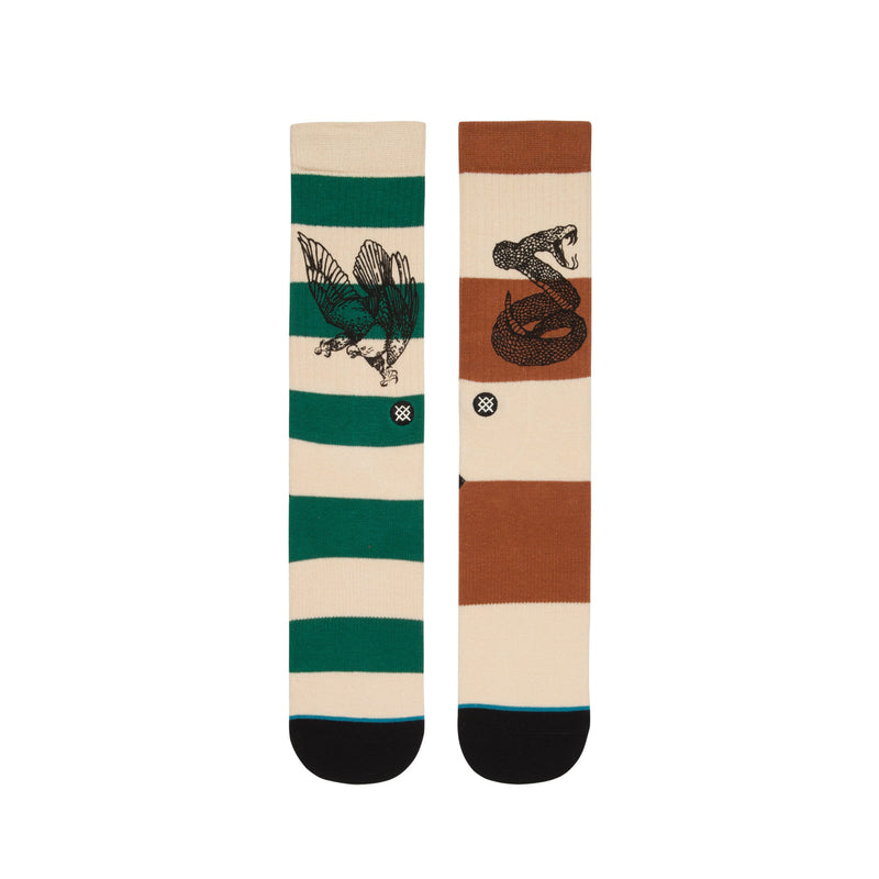 STANCE HECHO CLASSIC CREW SOCKS MEN'S - BROWN/GREEN