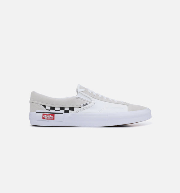 SLIP ON CAP MENS SHOE - WHITE/BLACK