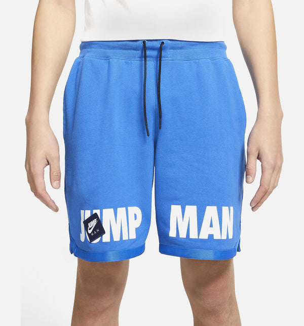 JUMPMAN CLASSICS BOX LOGO FLEECE MENS SHORTS - BLUE/BLACK