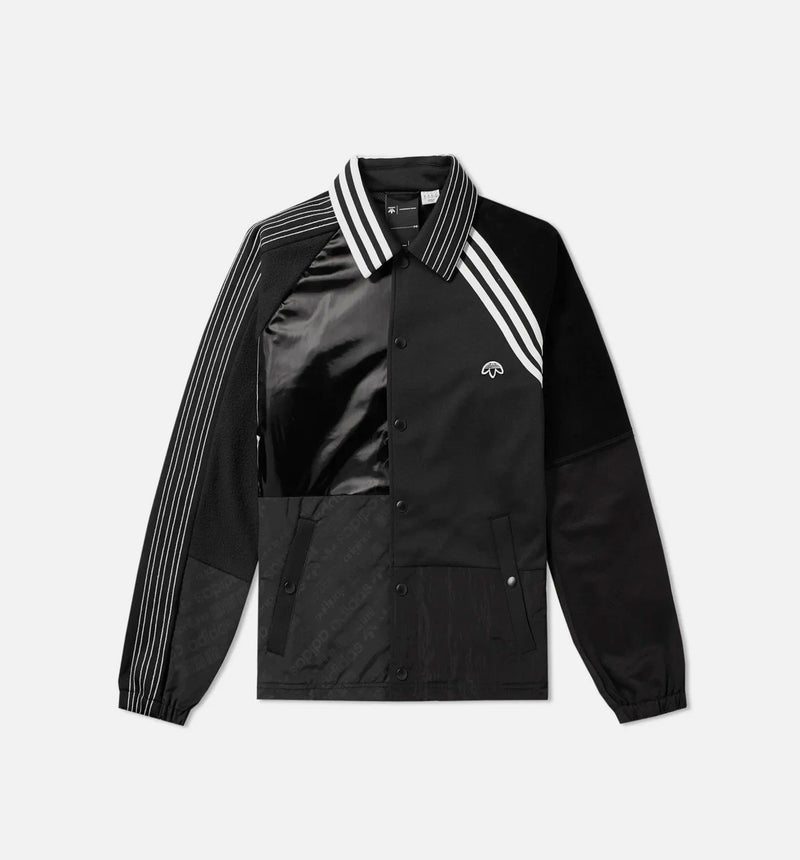 ALEXANDER WANG AW PATCH MENS JACKET - BLACK/WHITE