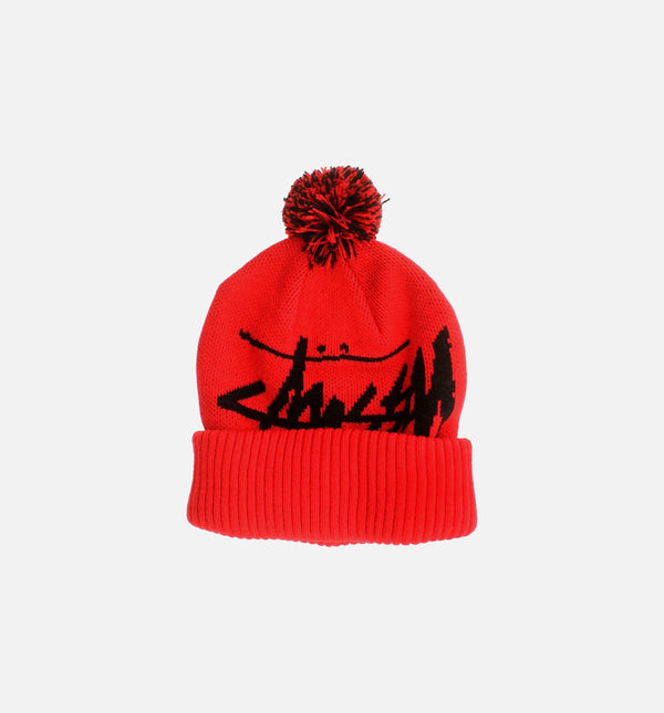 BIG STOCK POM BEANIE - RED