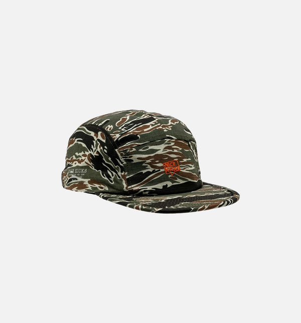NICE KICKS PREMIUM MEN'S ADJUSTABLE HAT - CAMO/ORANGE RED