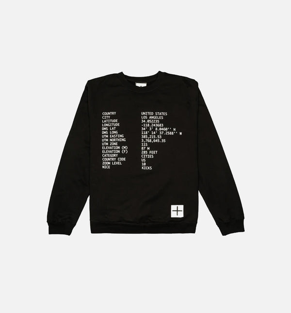 NICE KICKS 2018 SPRING MAP COLLECTION MENS CREW - BLACK/BLACK