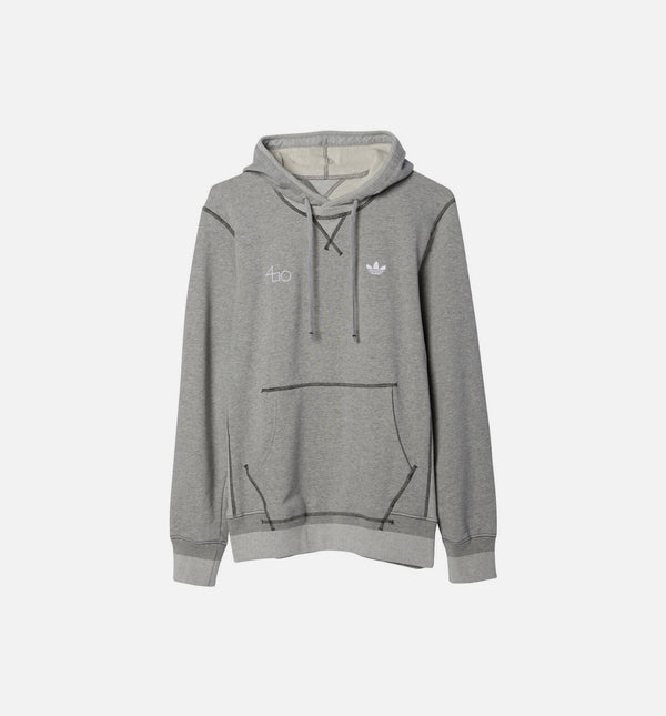 FOURNESS LOGO MENS HOODIE - GREY