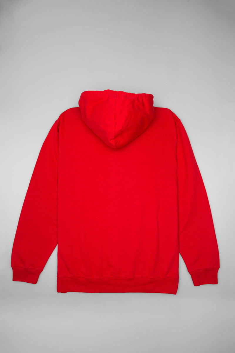 BOX PATCH COLLECTION MENS HOODIE - RED/RED