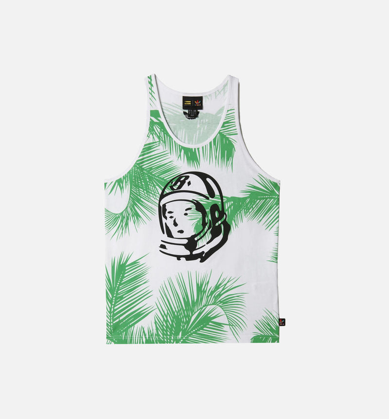 "ADIDAS ORIGINALS PHARRELL WILLIAMS BBC TANK TOP ""PALM TREES"" MEN'S - WHITE/VIVID GREEN"