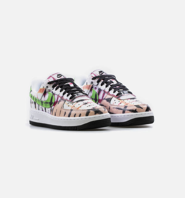 AIR FORCE 1 07 LOW QS WOMENS LIFESTYLE SHOE - WHITE/BLACK/GREEN/PINK/ORANGE