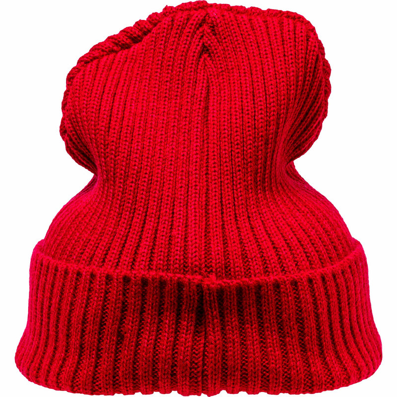 NICE KICKS PABLO CABLE BEANIE - RED