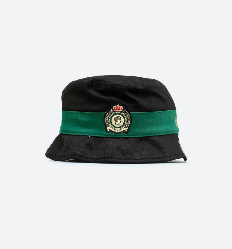 NICE KICKS X NEW ERA MENS BUCKET HAT - BLACK/GREEN