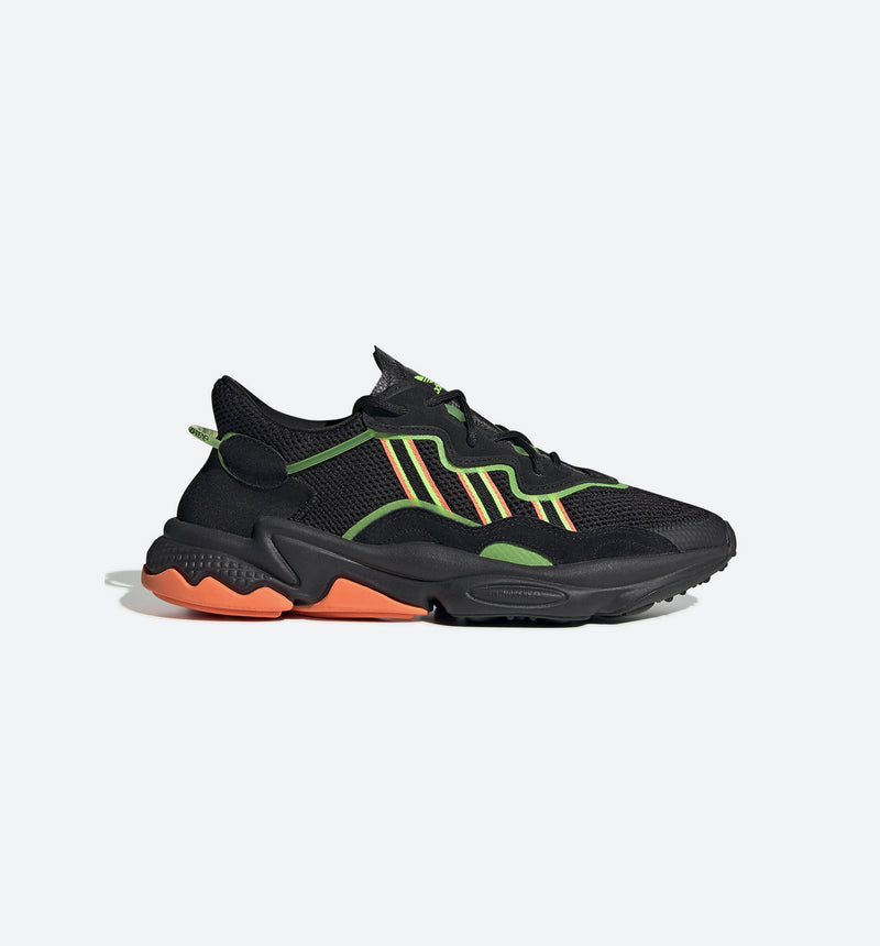 OZWEEGO MENS RUNNING SHOE - BLACK/GREEN/ORANGE
