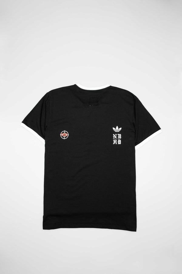 ADIDAS X NEIGHBORHOOD COLLECTION MENS T-SHIRT - BLACK/WHITE