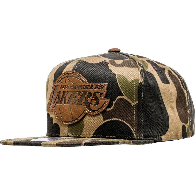 MITCHELL AND NESS LOS ANGELES LAKERS NBA LUX CAMO SNAPBACK MEN'S - CAMO/BROWN