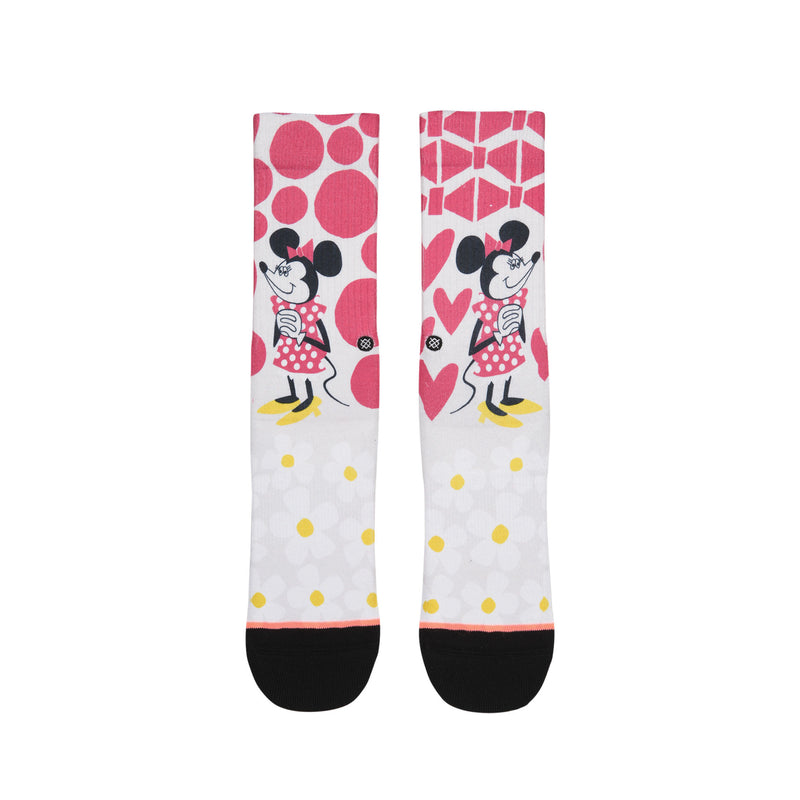 STANCE YUSUKE HANAI MINNIE SOCKS GIRL'S - PINK/WHITE/YELLOW/BLACK