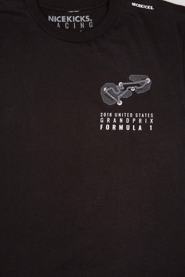 NICE KICKS FORMULA 1 RACE CAR SHIRT - BLACK/BLACK
