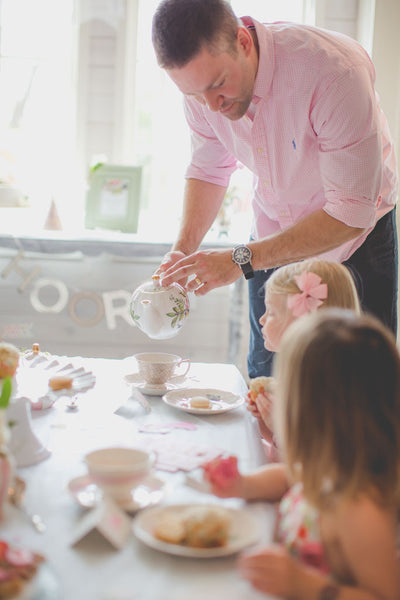 Pinkies up, toddler tea party for little girls