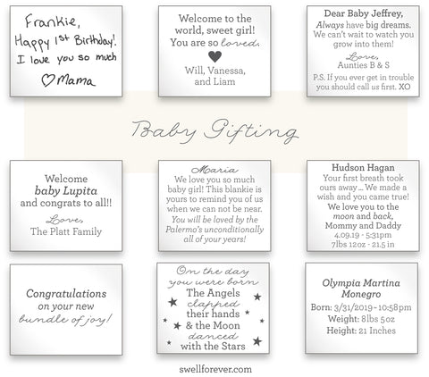 Unique custom baby gift ideas for baby shower, baptism, Christening and godparent gifts