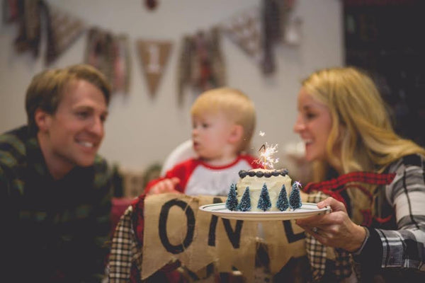Lumberjack themed first birthday party for boy