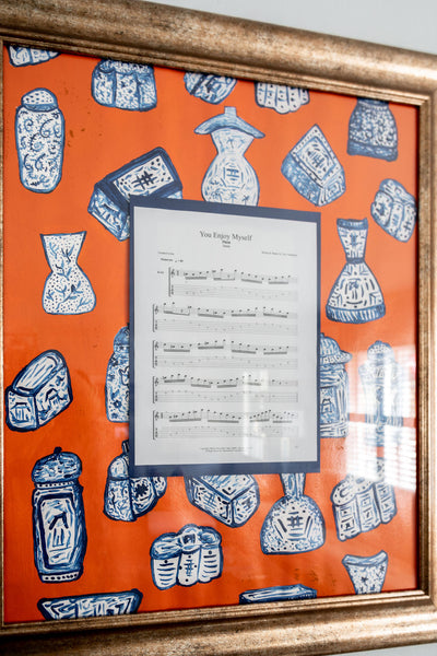 Sheet Music Framed for Impact