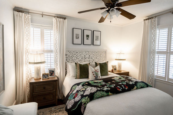 Schumacher Duvet and Exotic Accents: Guest Room