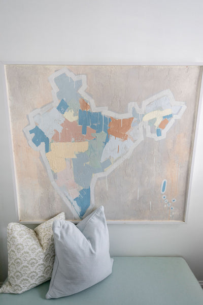 Travel Inspired Wall Art: Global Inspired Guest Bed