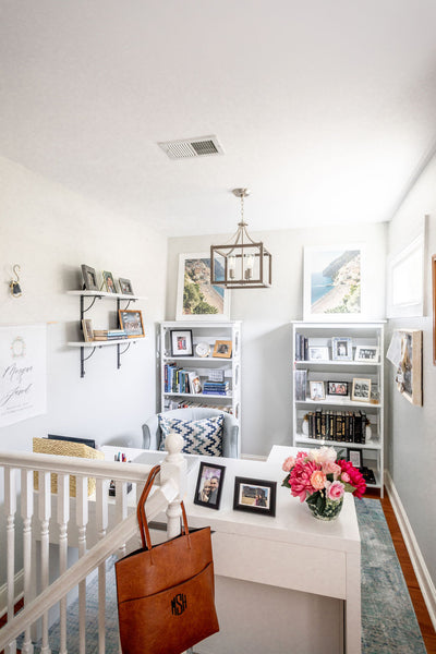 Gorgeous transitional nook office for her