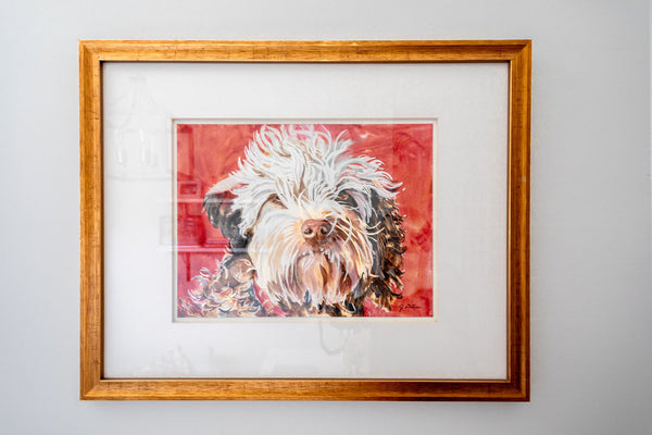Dog wall print art