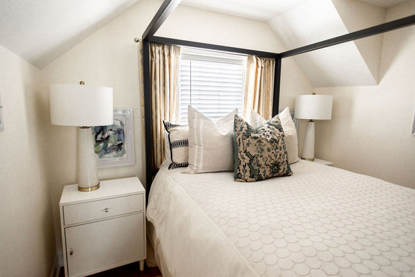 Master Canopy Bed with accent tables