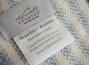 The Wesley Forever Blanket {throw} by Swell Forever. Cotton Linen blend with soft texture. American Made. Comes with unique personalized message tags for gifting. Support Adoption.