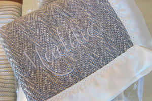 The Wilder Forever Blanket {baby} by Swell Forever. Handmade in American with American fabric. Personalized message tags.