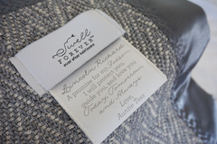 The Wilder Forever Blanket {baby} by Swell Forever. Handmade in American with American fabric. Personalized message tags. Perfect for baby showers, grandparent gifts, god son, god daughter, big brother, big sister gifts, Baptism, Christening, dedication, baby naming gifts.