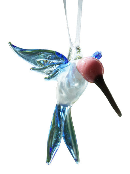 Forever Bird by Swell Forever: Made in USA Handmade Glass Hummingbird Ornaments with Personalized Message Cards.